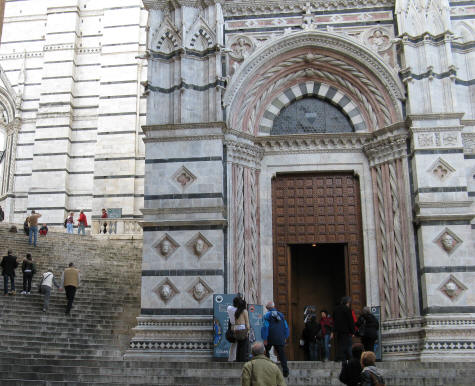 Baptistery at the Siena Cathedral