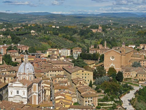 Maps of Siena Italy and Region